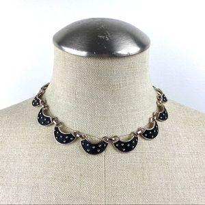 Vintage Scalloped Choker Style Necklace